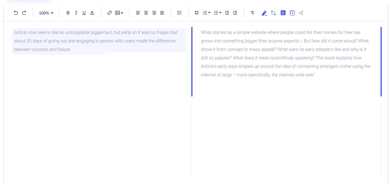 Content screen   grammify text