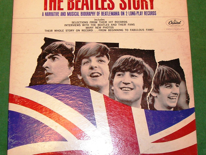 """BEATLES (The)  """"THE BEATLES STORY"""" - 1964 CAPITOL MONO with ORIGINAL SLEEVES * 9/10 *"""