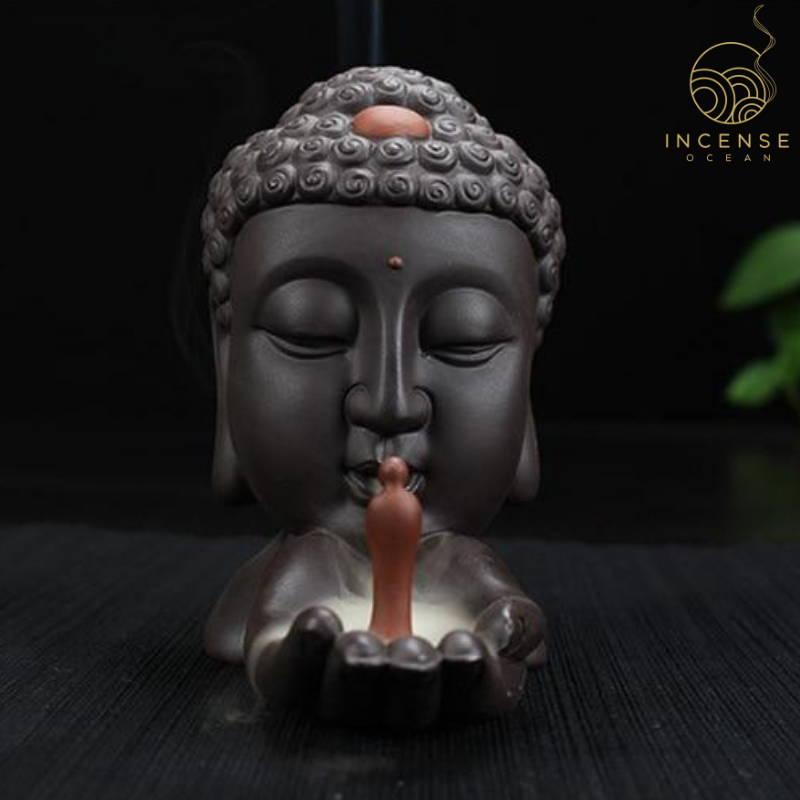 ceramic buddha incense holder