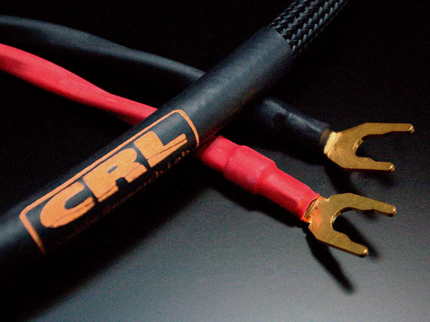 CLR CABLE RESEARCH LAB BRONZE Speaker Cable 10ft pair Spade to Locking Banana