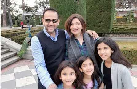 Franchise Owners of Primrose School Saleem Karmaliani and Salima Mithani with their family