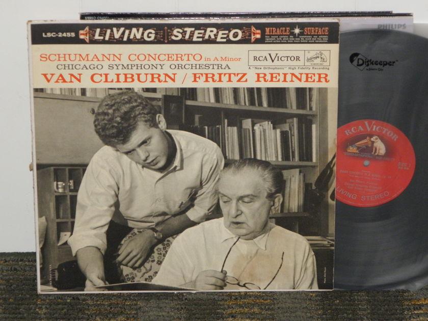 Cliburn/Reiner/Chicago Symphony - Schumann Cto. in Am+ Op.54 RCA Shaded Dog LSC 2455 3S/3S matrix