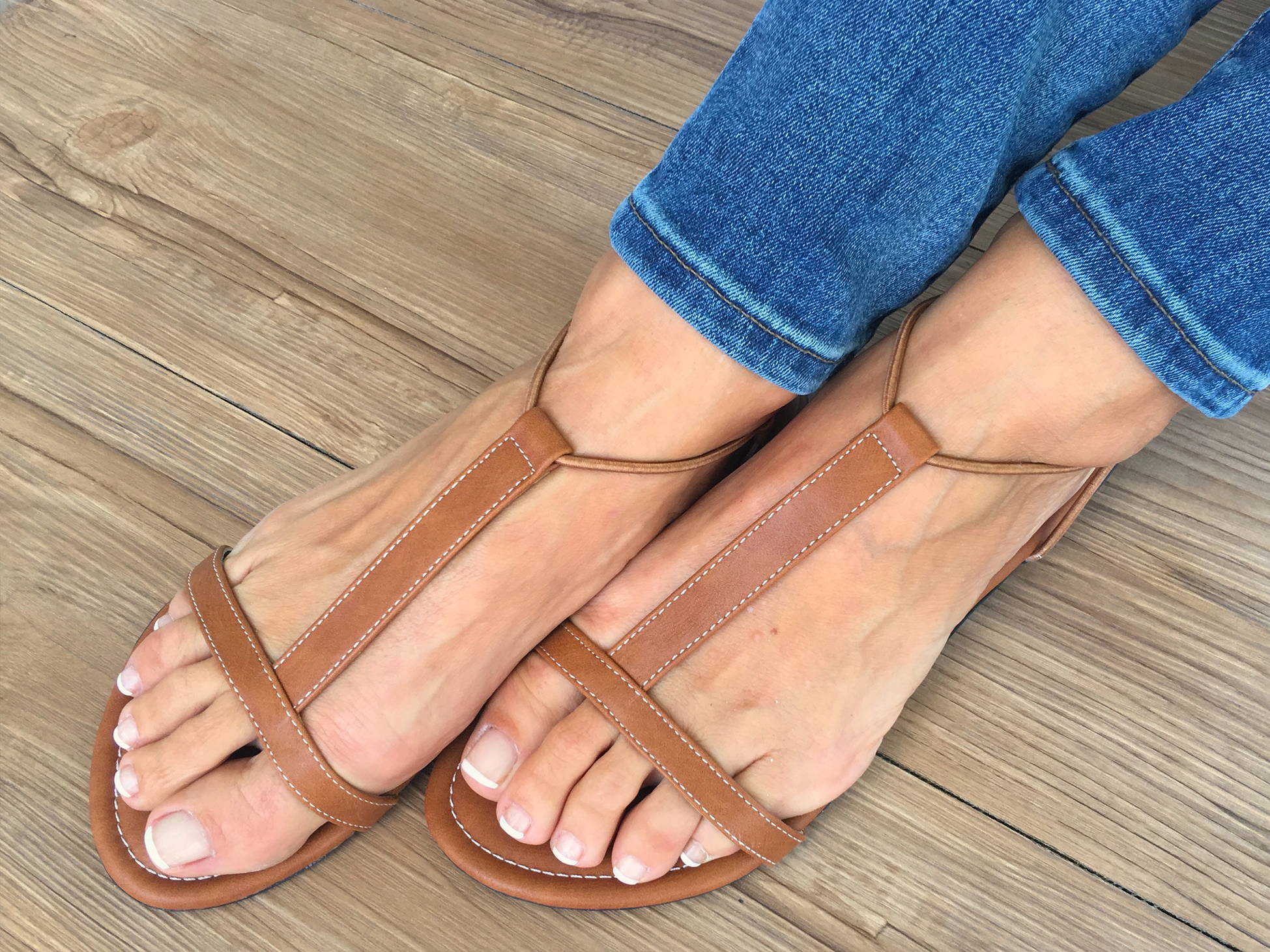 Sandals Natural By With My Sands