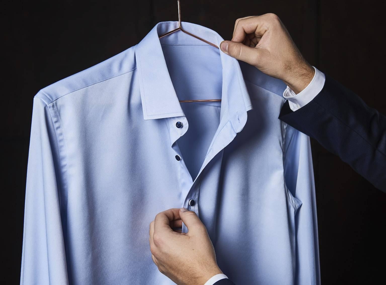 TailorMate | Skræddersyet skjorte | Blå