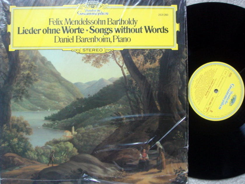 DG / DANIEL BARENBOIM, - Mendelssohn Songs without Words, NM!