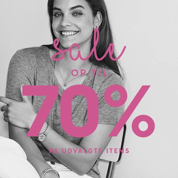 Sale op til 70% på udvalgte items