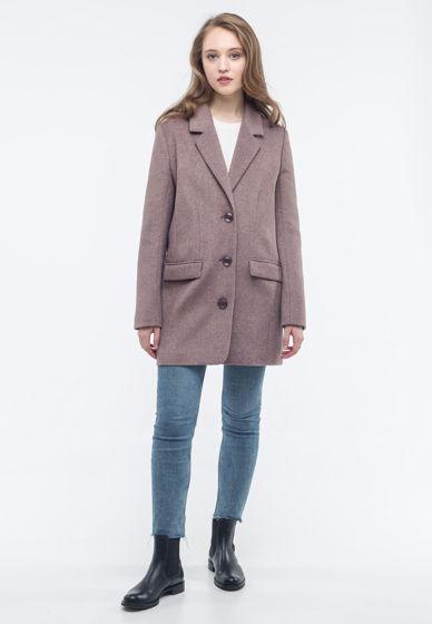 Пальто-пиджак пудрового цвета