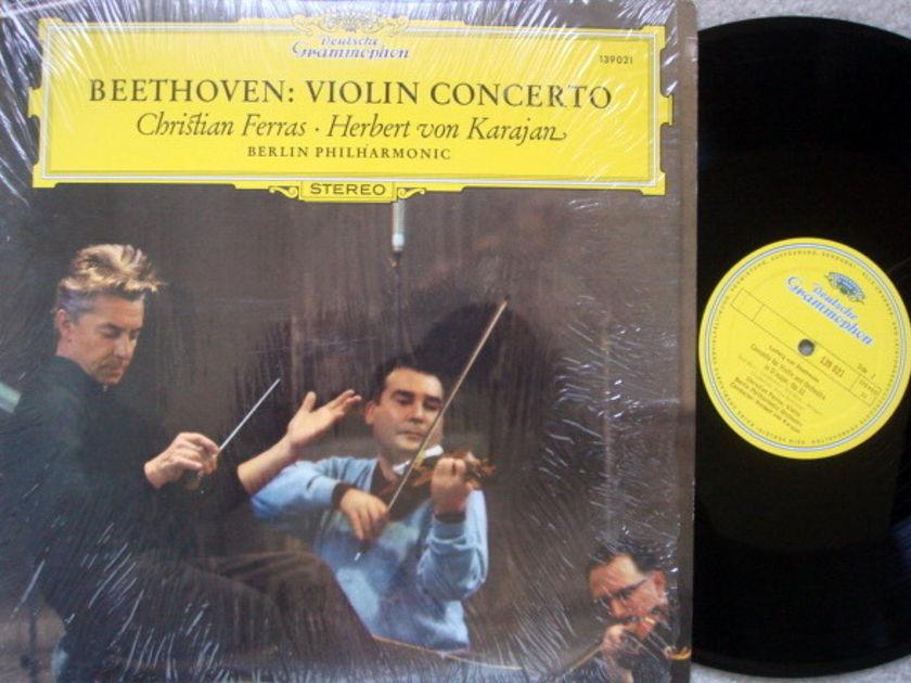 DG / FERRAS-KARAJAN, - Beethoven Violin Concerto, MINT!