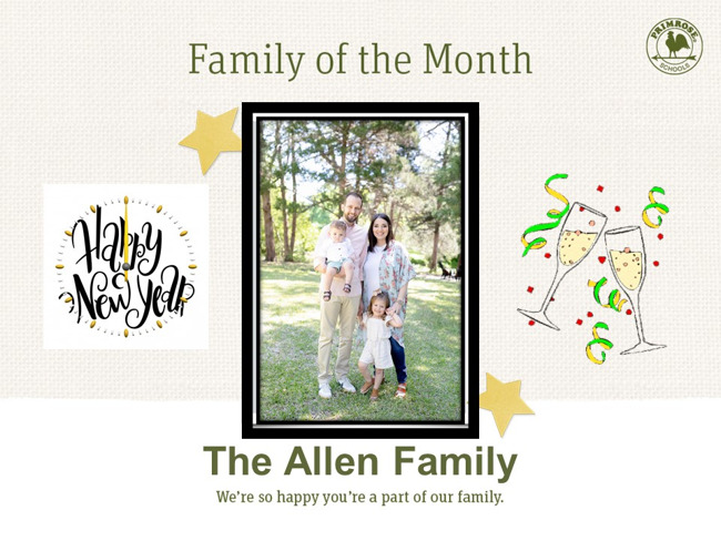 Allen Family of the Month