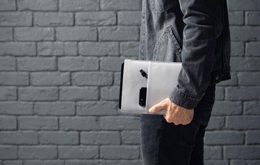 Чехол для планшета из натуральной кожи, модель Tablet Case. Gray