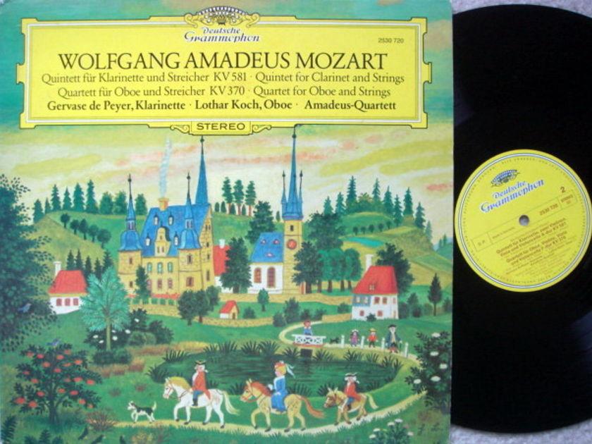 DG / AMADEUS QT,  - Mozart Clarinet Qunitet K.581, Oboe Quartet K.370,  MINT!