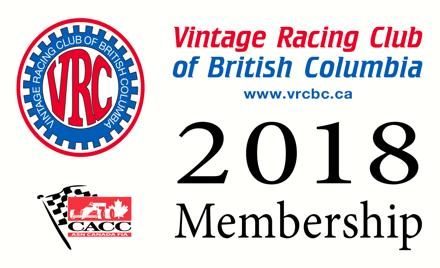 2018 VRCBC Membership