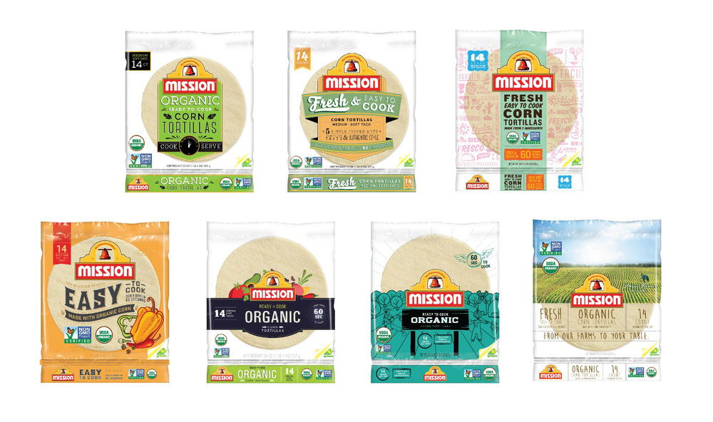 Sketches of Mission Organic Tortillas.