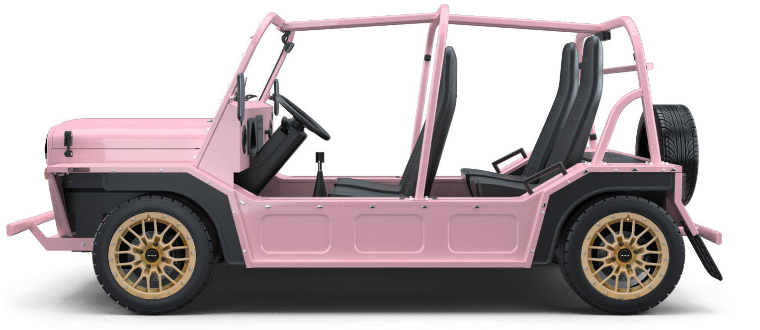 MOKE Electric Vehicles + HD Golf Wheels RTC Custom Wheel & Tire Packages for Flamingo Pink 14 inch with Tire
