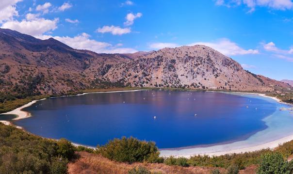 Озеро Курнас, Курталиотское ущелье, монастырь Превели из района Ретимно