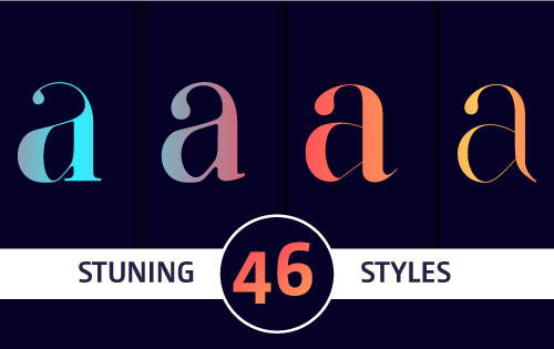 Stunning fonts for fashion magazine must have