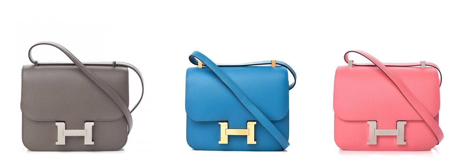 Hermes Constance bags in 3 colors