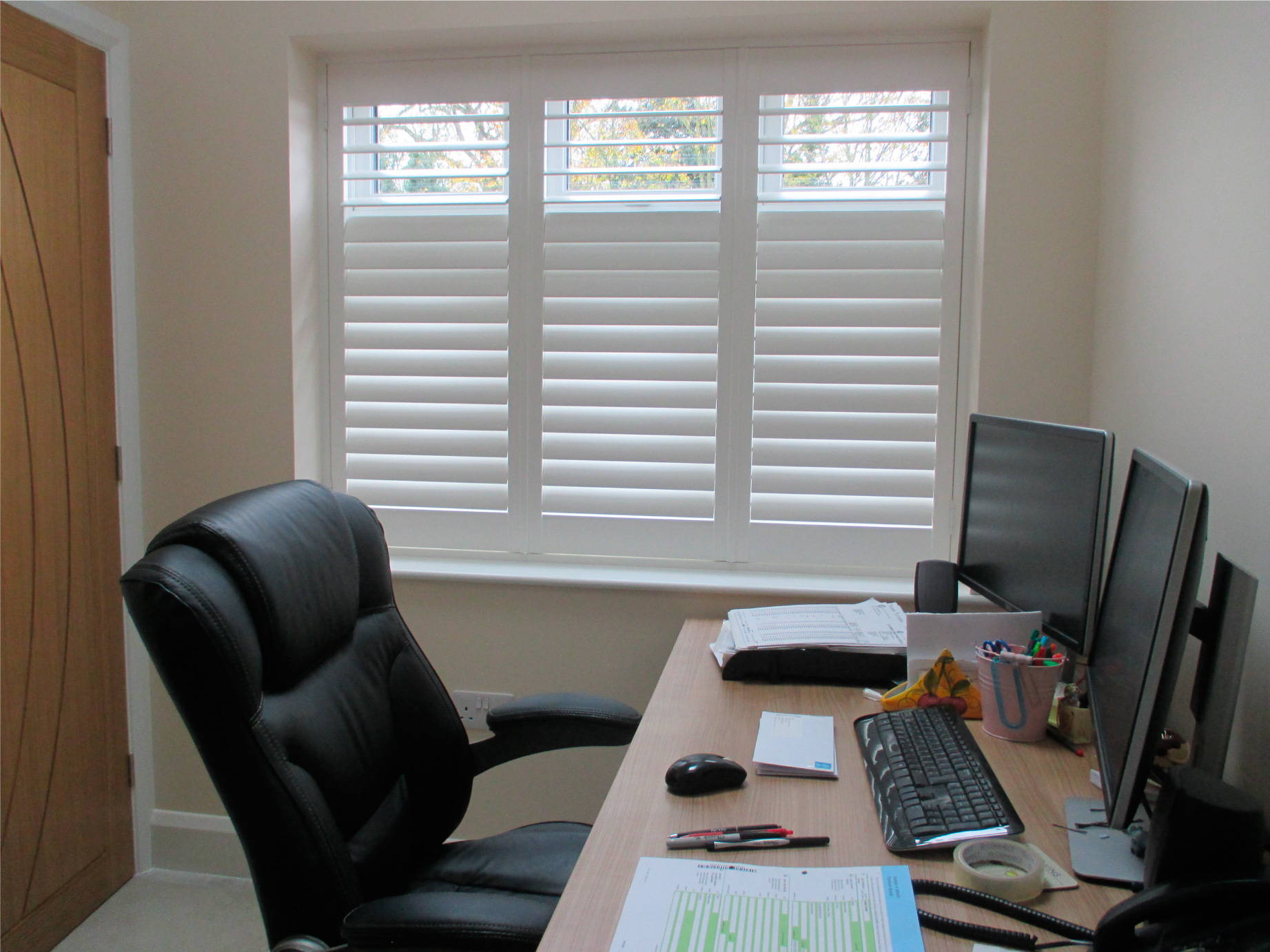 Quality Plantation Shutters for the office