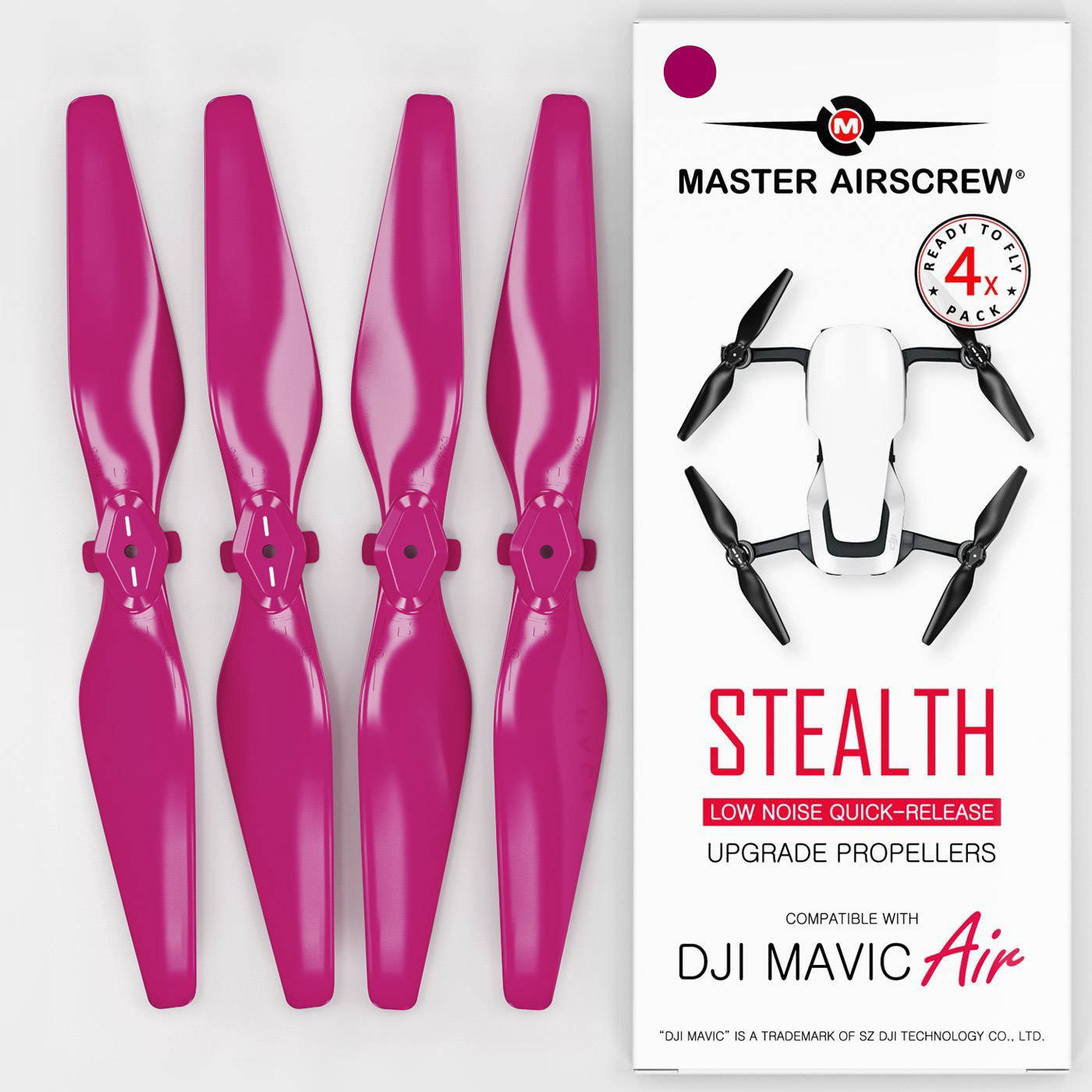 DJI Mavic Air Low-Noise STEALTH Upgrade Propellers - x4 BLACK