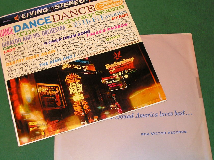 "GERALDO & HIS ORCHESTRA - DANCE DANCE DANCE -  - Vol 2 * RCA CAMDEN LIVING STEREO * 1S/A1-1S/A1 ""I"" PRESS  NM 9/10"