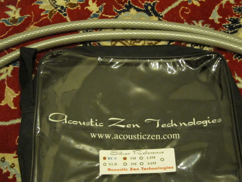 Acoustic Zen  Silver Reference II RCA Interconnects 1.0 meter 1 m