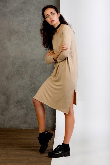 Женское трикотажное платье Camel