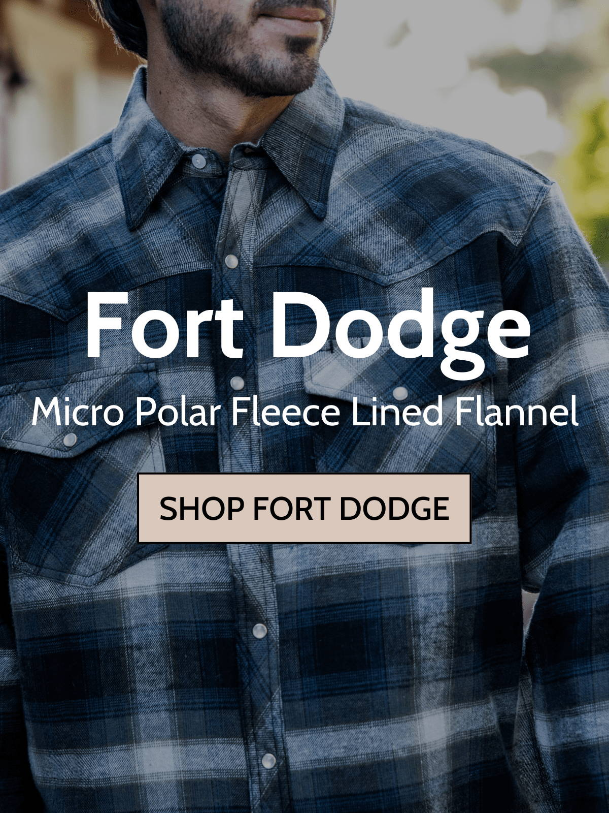 Man wearing canyon guide fort dodge shirt jacket