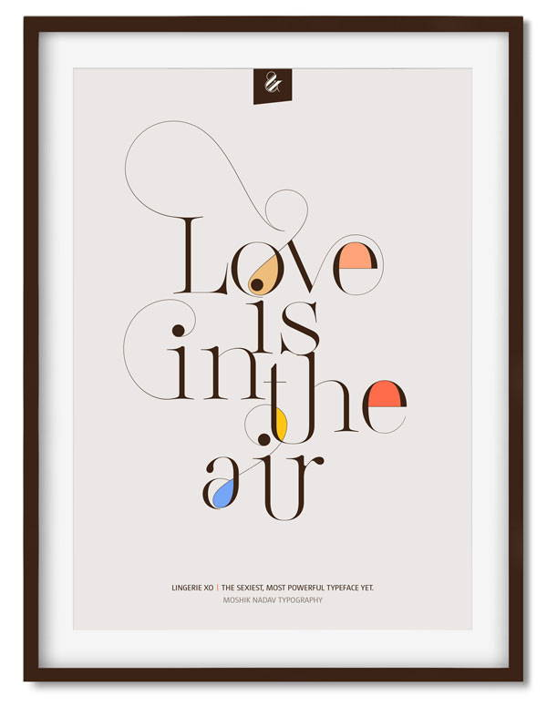 Love is in the air poster - Moshik Nadav Fashion Typography