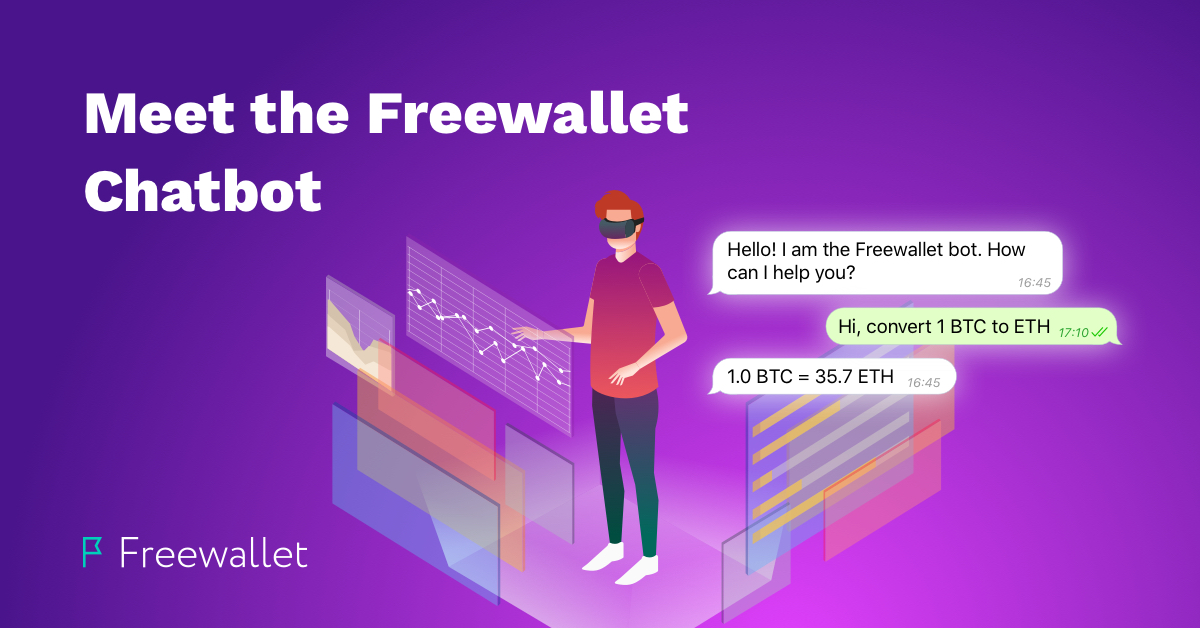 Text 'Hi' to the Freewallet Chatbot