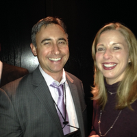 Steve Mooney of Salesforce and Martine Weinhold COO of SBSB at Black Diamond reception.