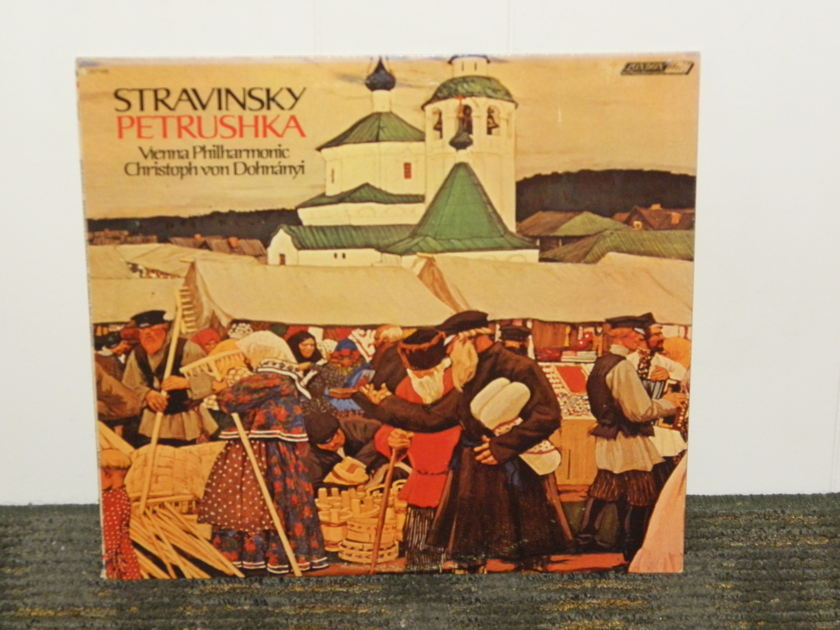 "von Dohnanyi/Vienna Philharmonic Orch. - Stravinsky ""Petrushka"" London CS 7106 UK Decca 1G/2G matrix"