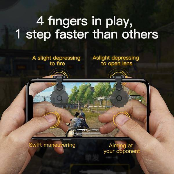 smartphone gamepad 4 fingers in play
