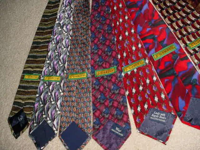 the grateful dead related - jerry garcia 12 neck ties
