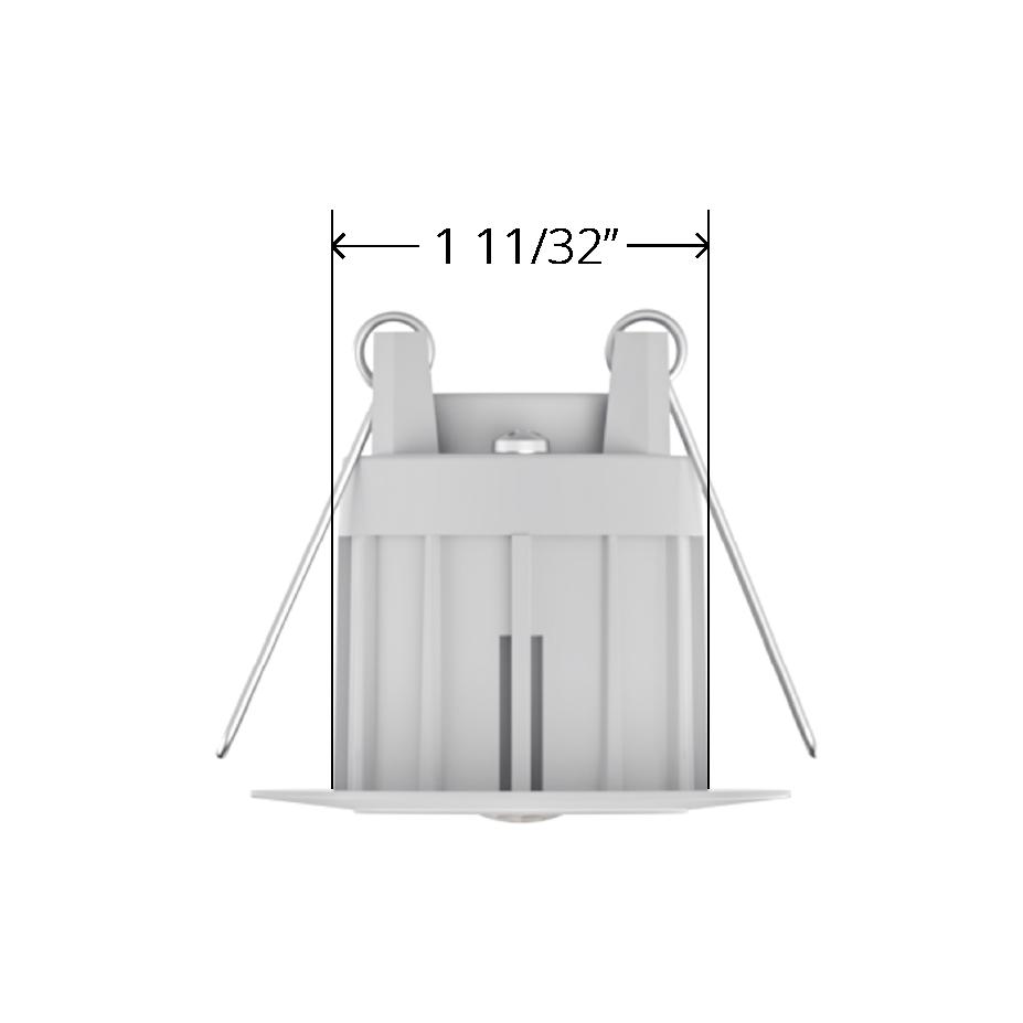 White Faradite IP67 Motion Sensor 360 35mm dimensions