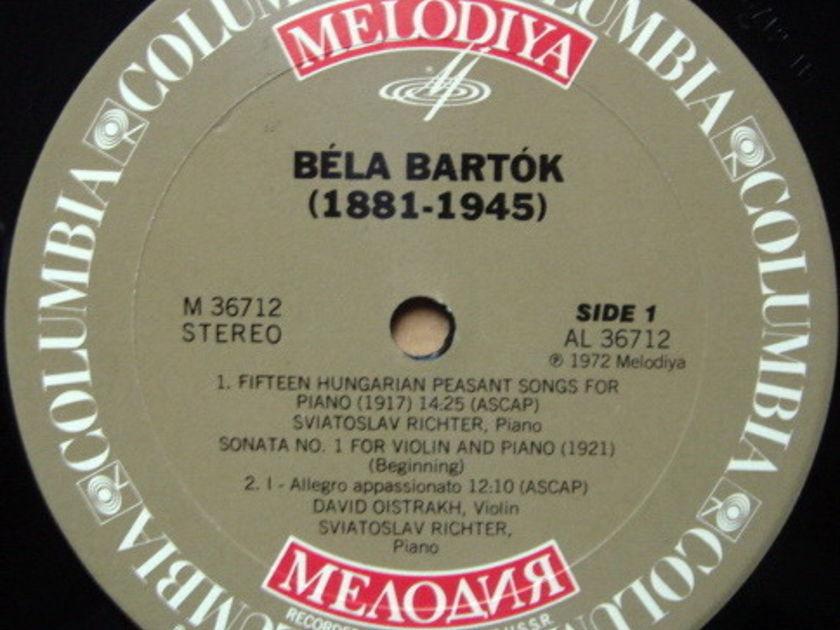 CBS Melodiya / OISTRAKH-RICHTER, - Bartok Violin Sonata No.1, MINT!