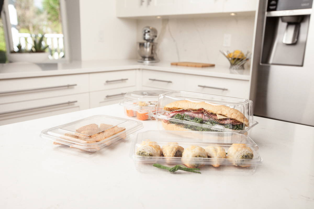 plant based food packaging, deli containers, prepared meal containers, canada