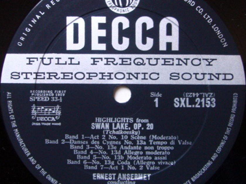 DECCA SXL-WB-ED1 / ANSERMET, - Tchaikovsky Swan Lake Highlights, NM-!
