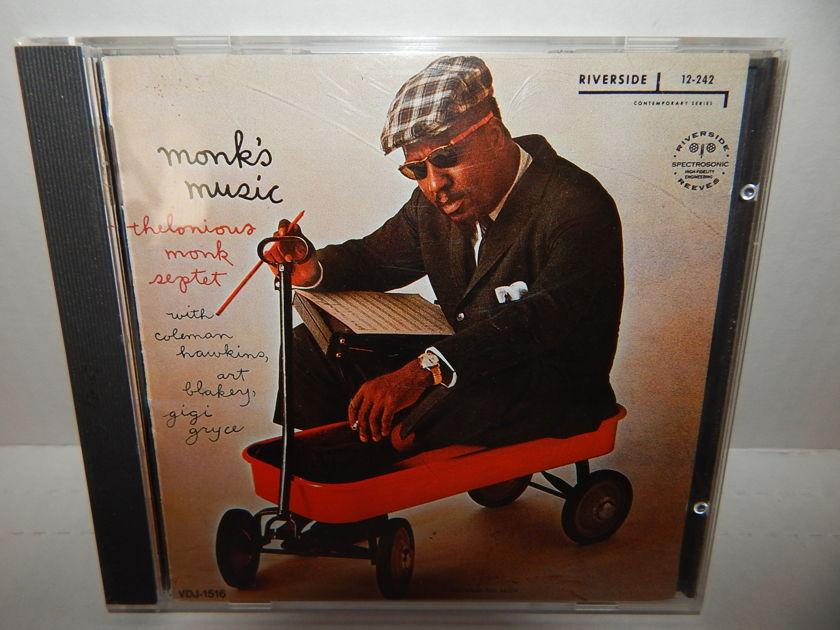THELONIOUS MONK Monk's Music - Coleman Hawkins John Coltrane Japan Import 1985 Riverside VDJ 1516 1P CD
