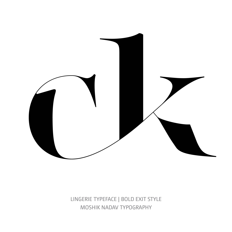 Lingerie Typeface Bold Exit glyph