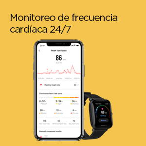 Amazfit Bip U Pro - Monitoreo de frecuencia cardíaca 24/7
