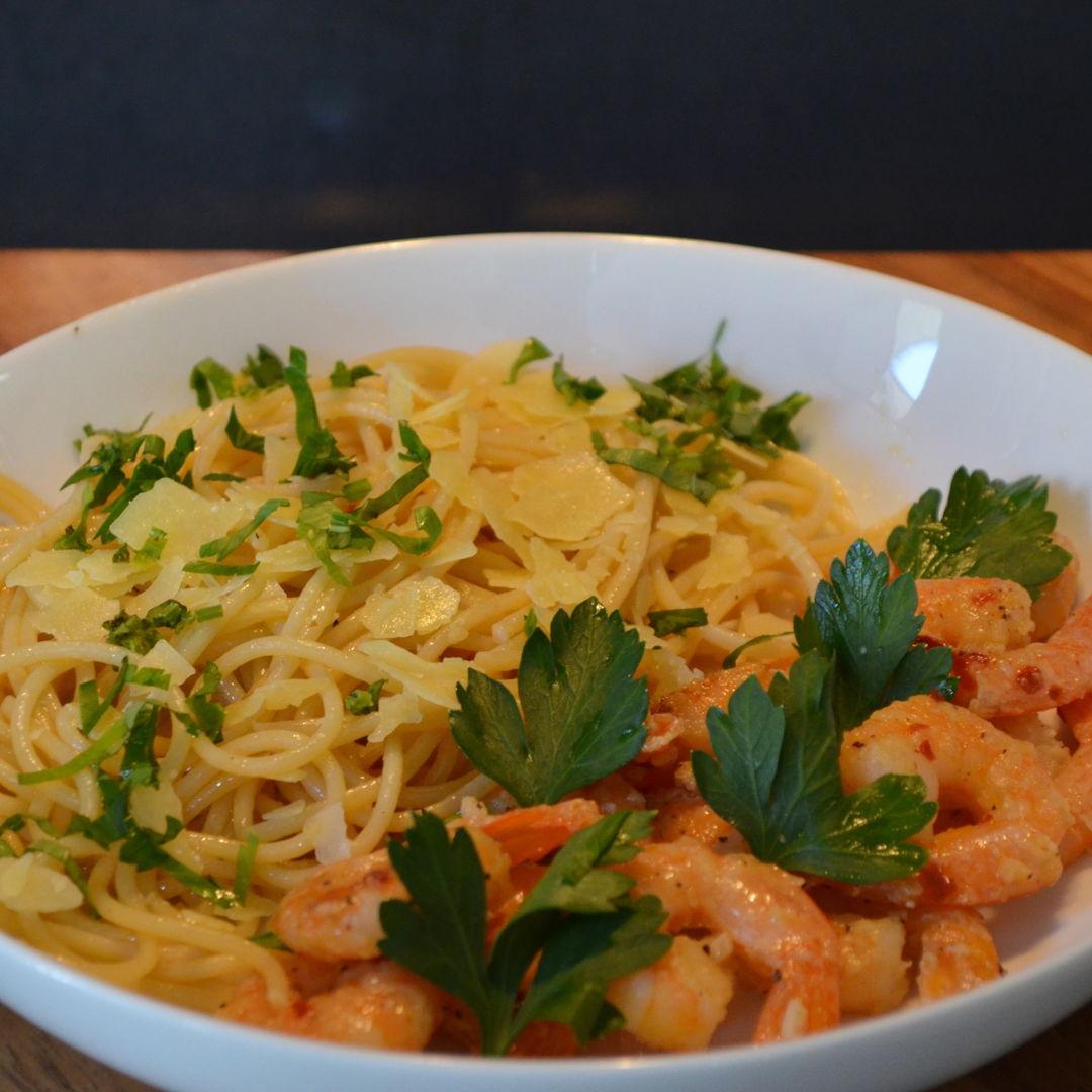 Date: 14 May 2020 (Thu) 4th Appetizer: Shrimp Scampi [349] [162.3%] [Score: 9.5] Cuisine: Italian Dish Type: Appetizer