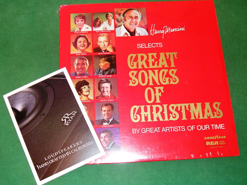 HENRY MANCINI - Selects GREAT SONGS OF CHRISTMAS  - * 1975 RCA SPECIAL PRODUCTS - GOODYEAR SERIES * NEW/SEALED