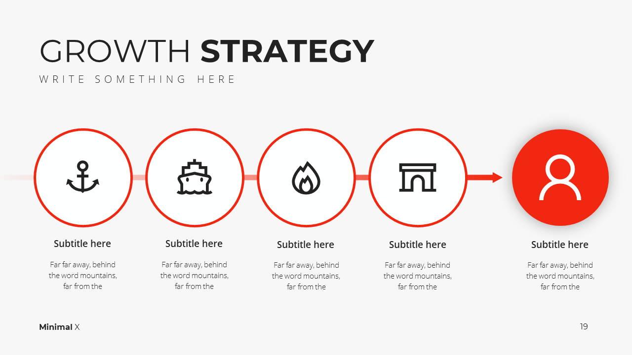 Minimal X Presentation Template Business Plan Growth Strategy