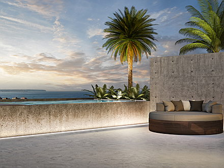 Balearic Islands - Chill-out area with view over Palma´s bay