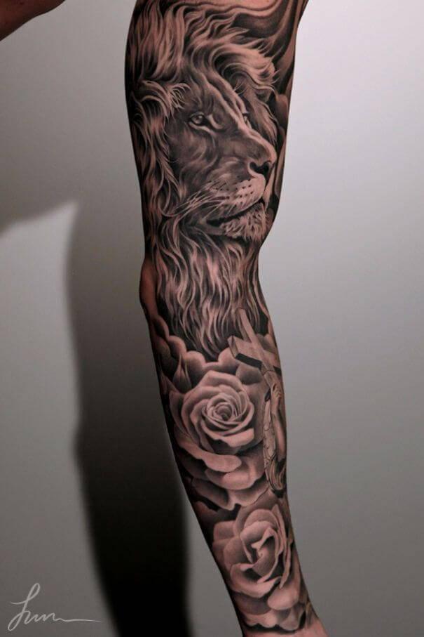 Tatouage Lion Art