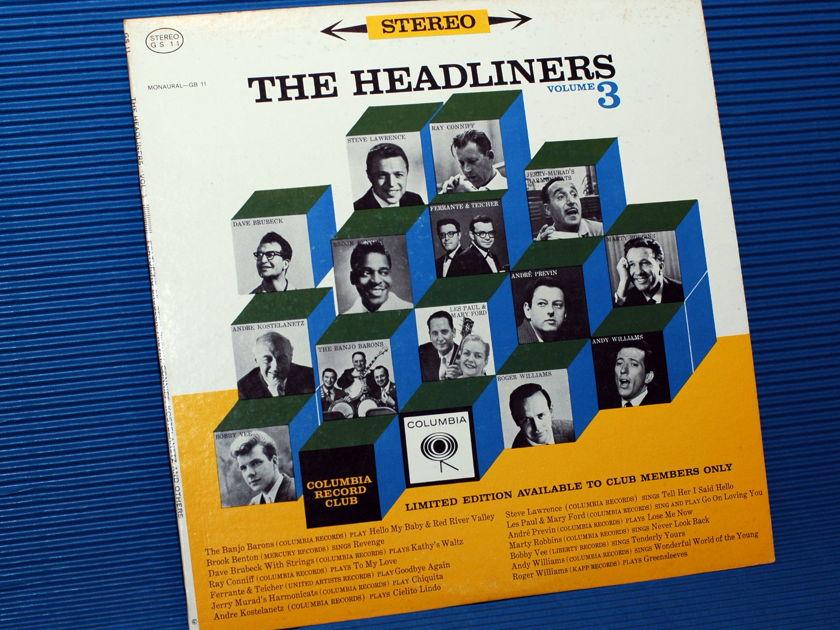 "THE HEADLINERS -  - ""Volume III"" - Columbia Record Club 1962"