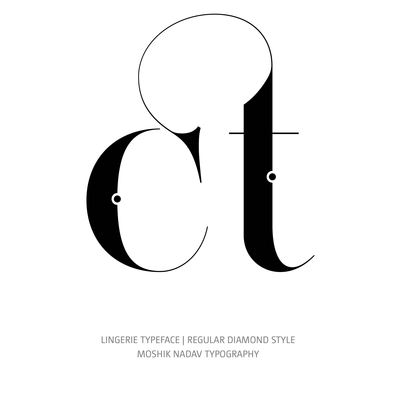 Lingerie Typeface Regular Diamond ct ligature glyph