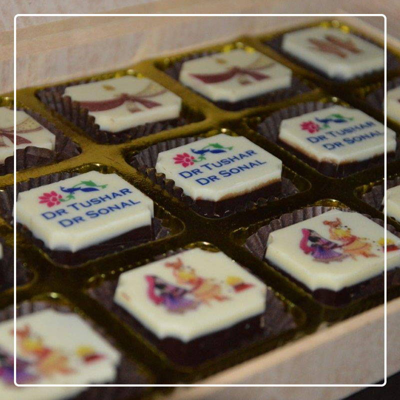 Names on Chocolates, best return gift for wedding in Delhi
