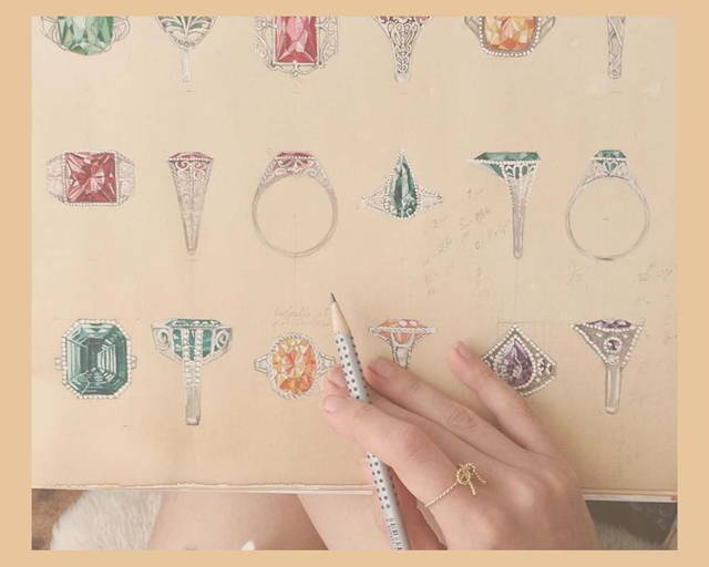 Design of rings on paper by sceona in Singapore