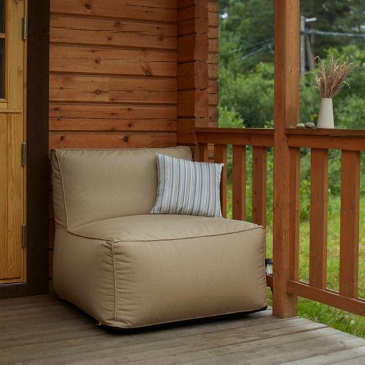 Модульное бескаркасное кресло в уличной ткани